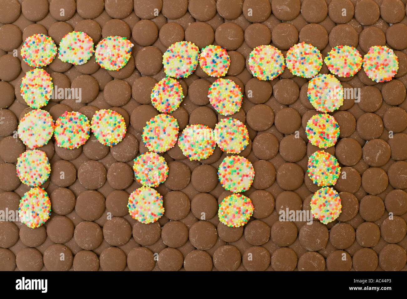 Chocolate Used Spell Out Word Stock Photos & Chocolate Used Spell ...