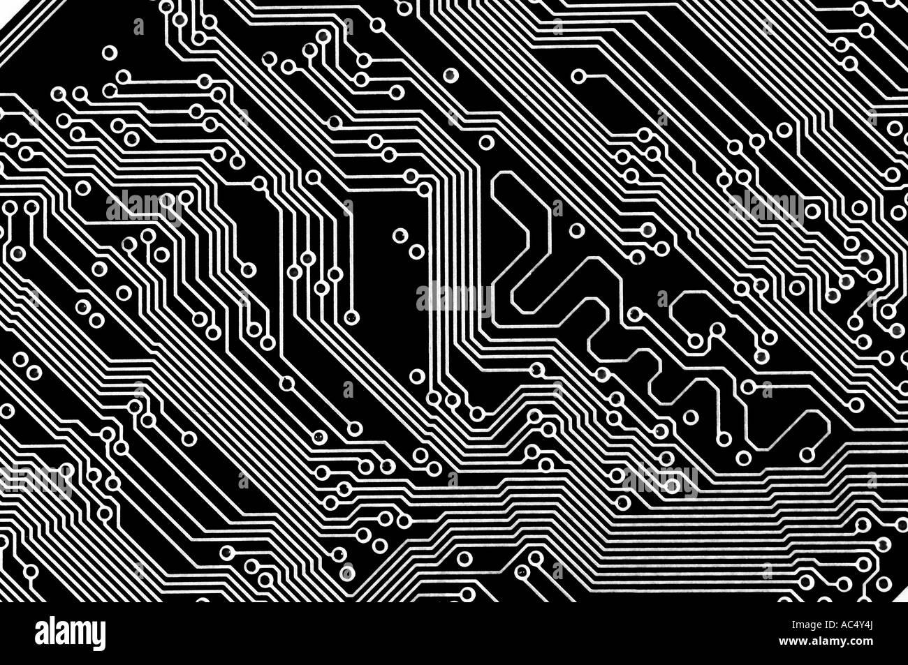Black circuit board wallpaper