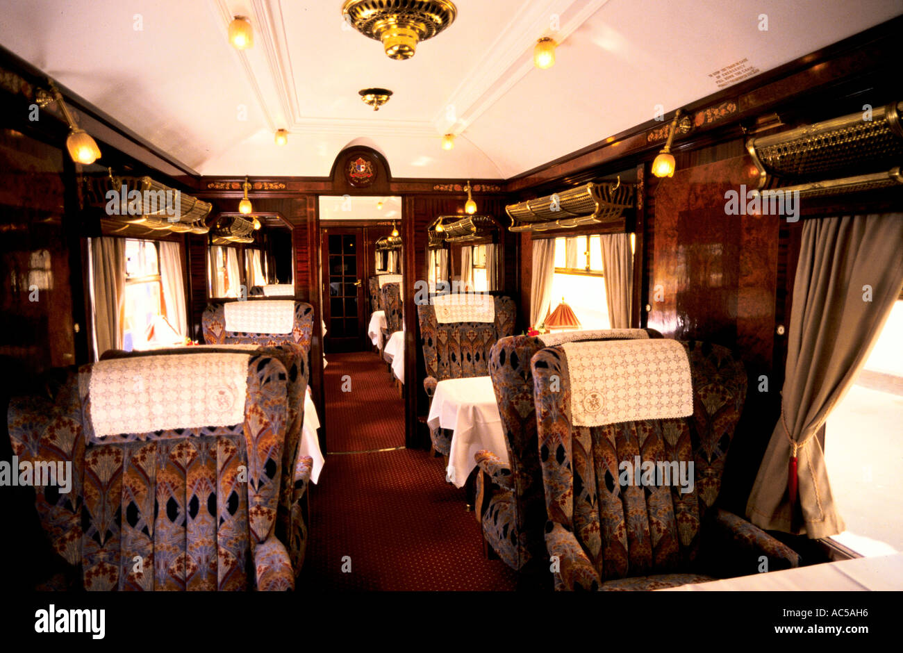 Orient express interior of the orient express stock photo for Interior pictures