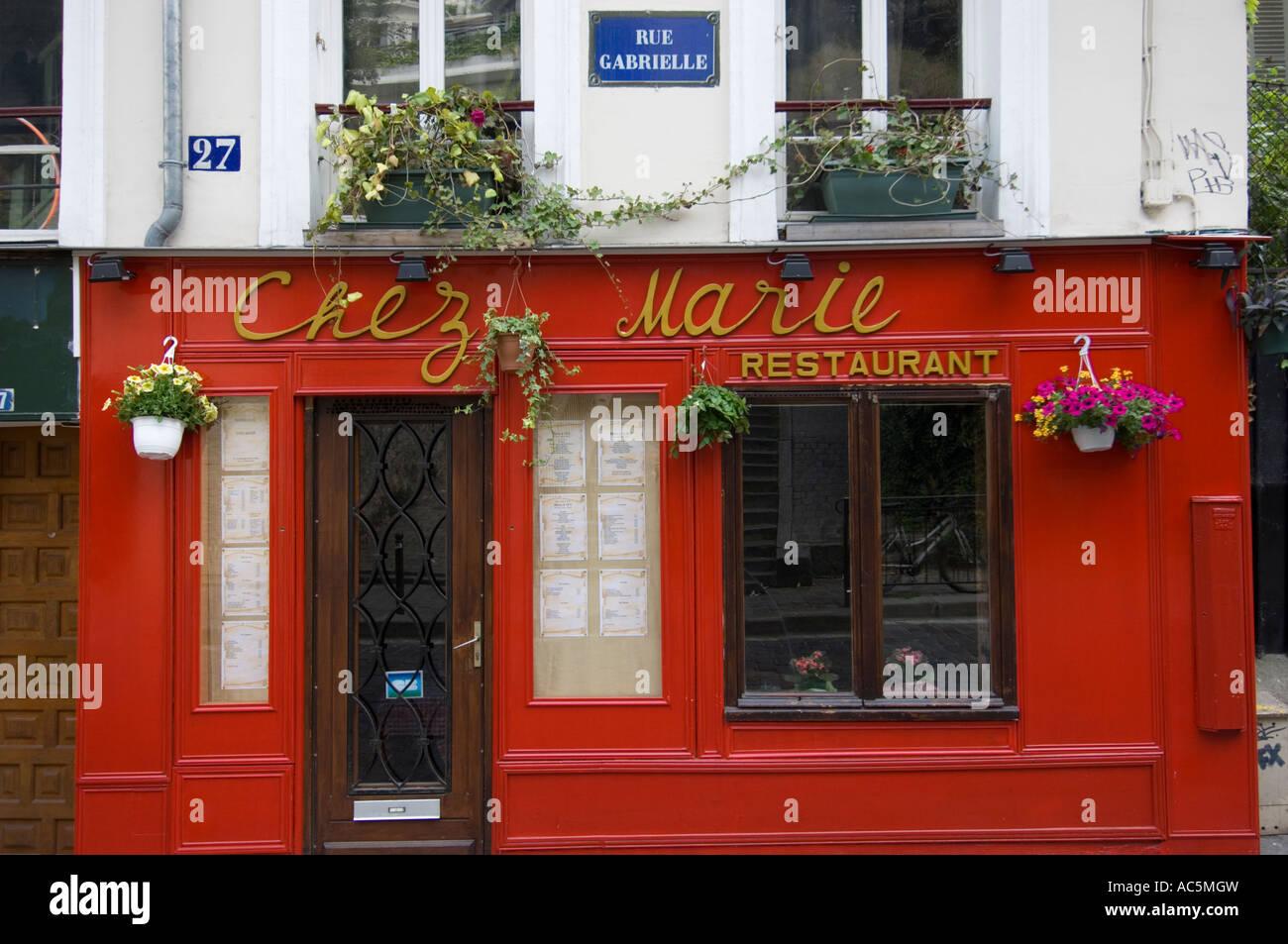 Chez marie restaurant montmartre rue gabrielle paris for Restaurant chez marie marseille