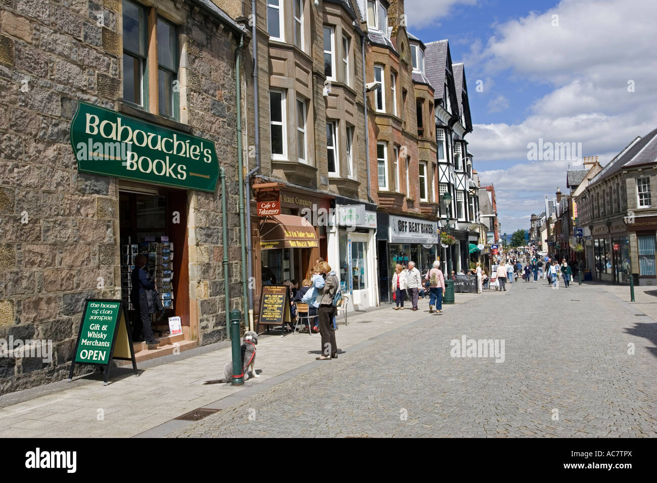 Shops On High Street Fort William Highlands Scotland Uk