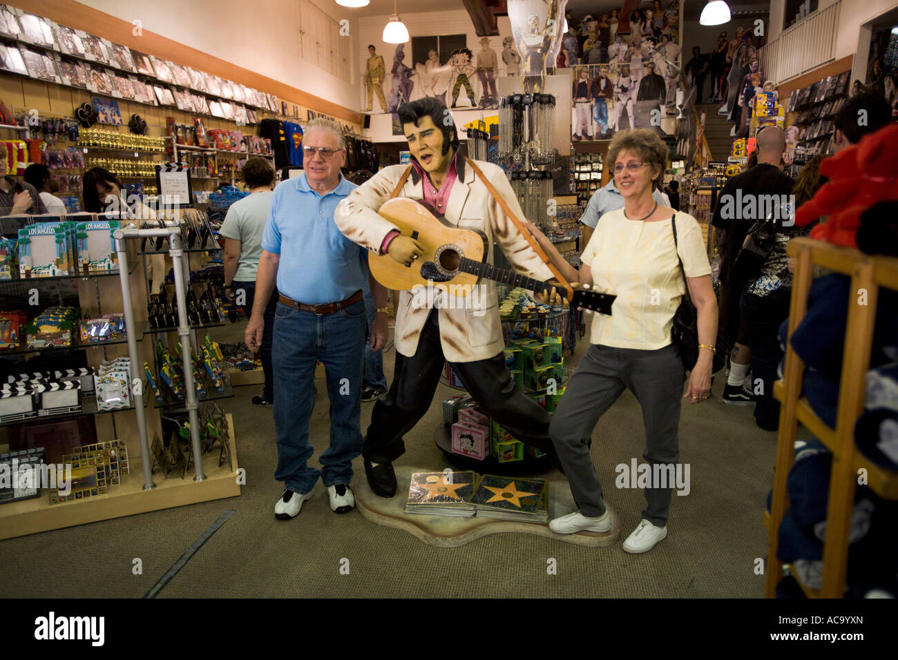A gift shop across the street from the Kodak Theater with an Elvis ...