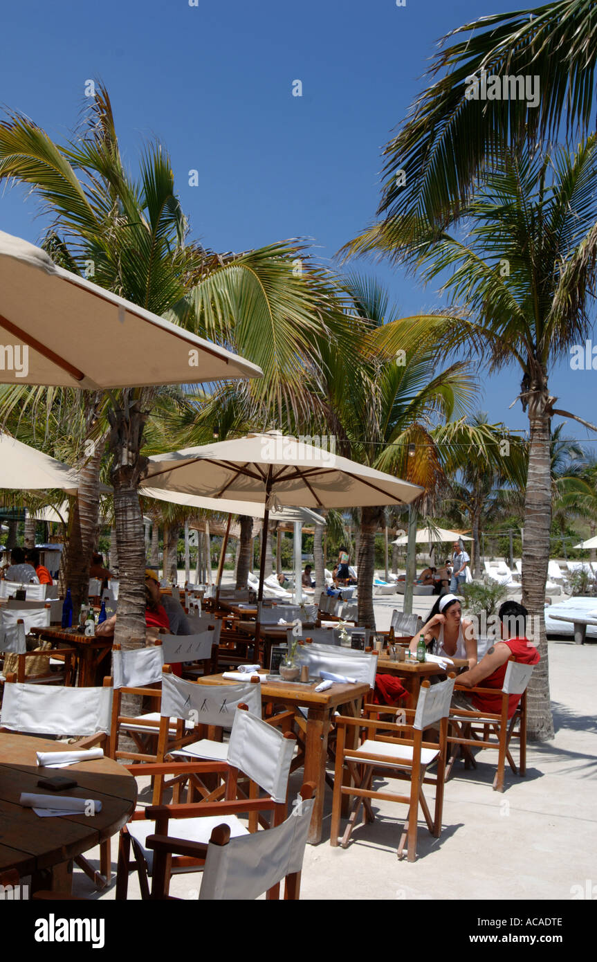Nikki beach bar and restaurant on south beach art deco area south beach miami florida usa