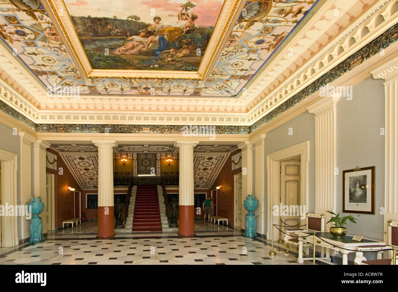 Corfu Island Achillion Palace Interior Stock Photo
