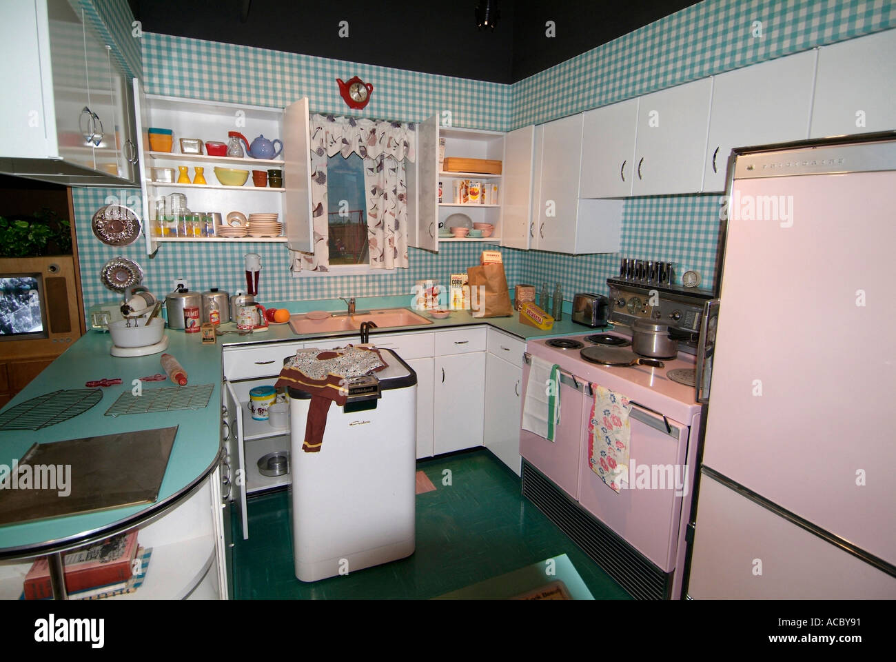 1950 Kitchen Fair Circa 1950 Kitchen In A Home At Michigan Historical Museum At Inspiration Design