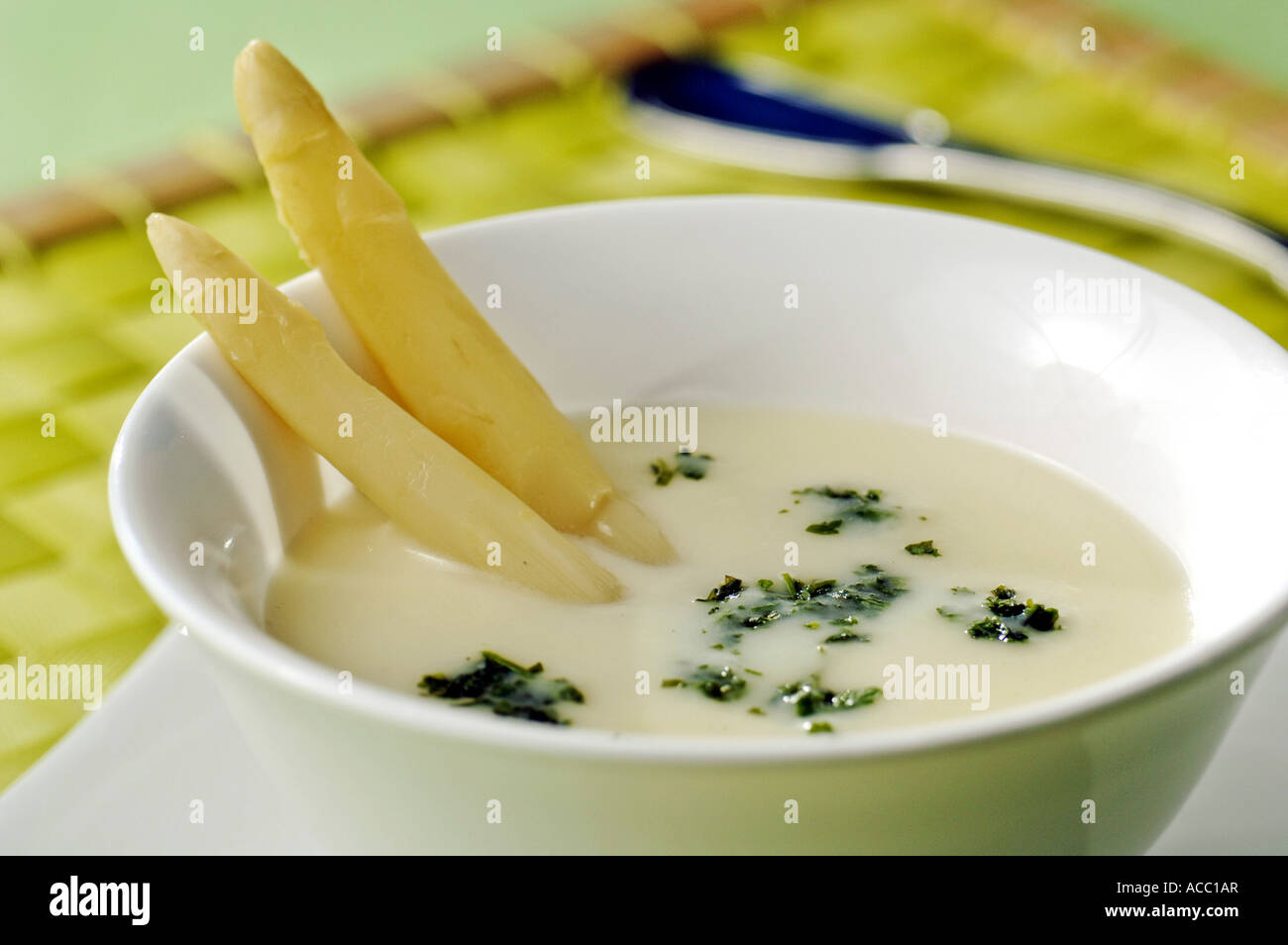 White asparagus soup Stock Photo, Royalty Free Image ...