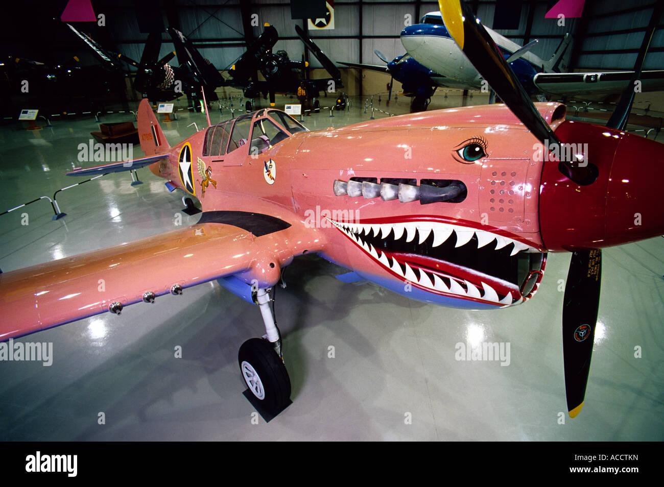 World War II Flying Tiger Curtis P N Warhawk At The Kalamazoo - World war ii museums in usa
