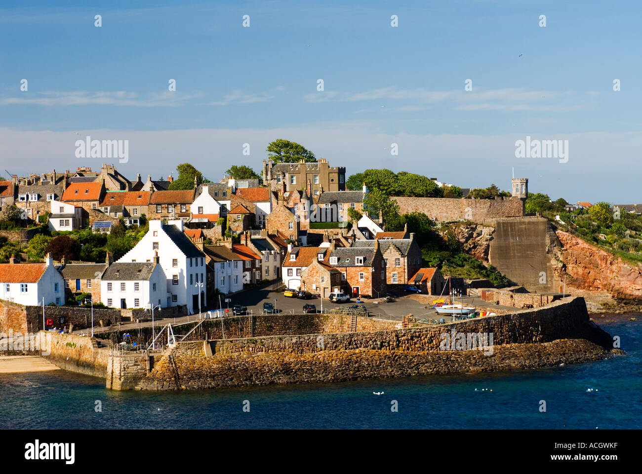 Old Harbour In Traditional Fishing Village Of Crail In
