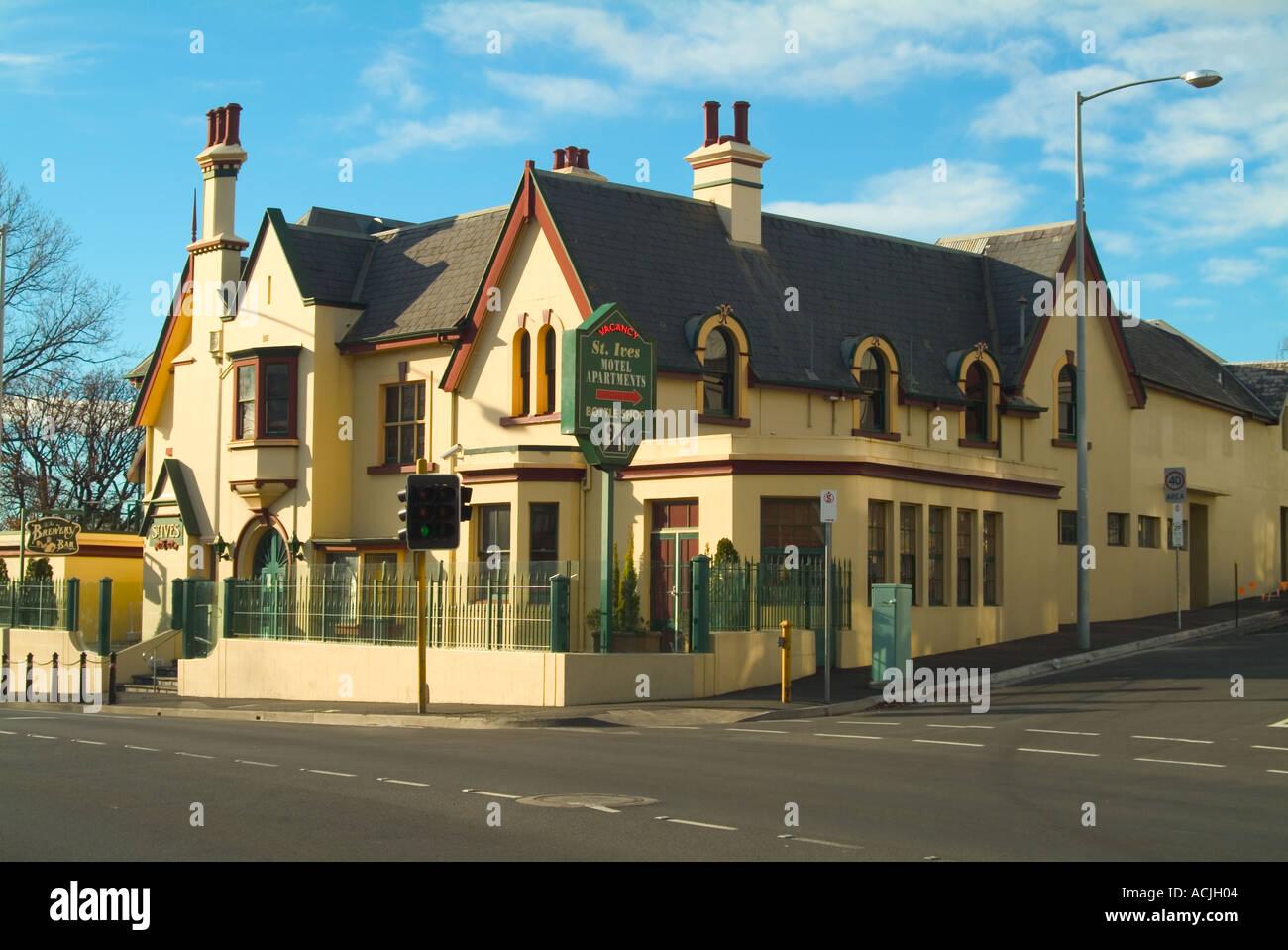 st ives hotel hobart tasmania australia stock photo. Black Bedroom Furniture Sets. Home Design Ideas