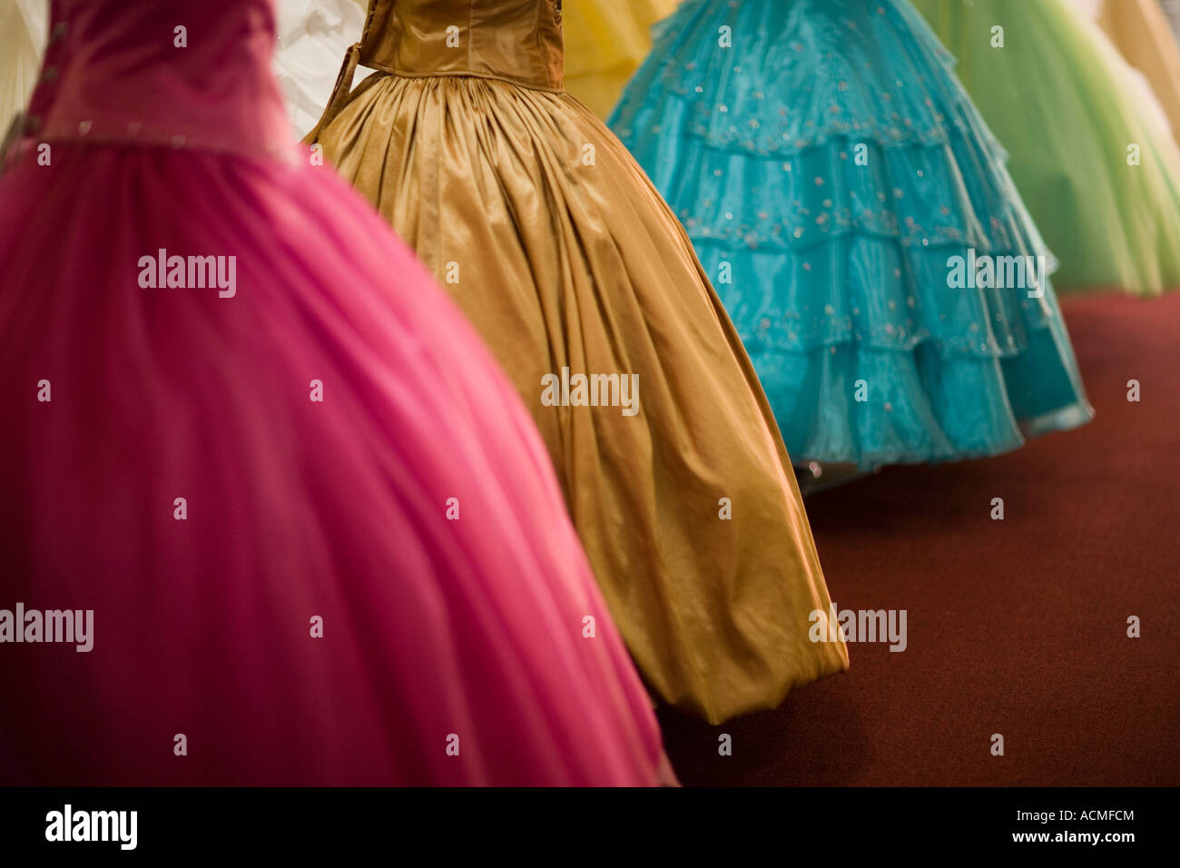 Gowns in downtown los angeles - Stock Photo Dresses For Weddings And Quinceanera Bridal Shop Broadway Downtown Los Angeles California United States Of America