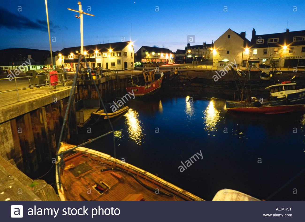 ullapool harbour port fishing boat jetty pier dusk night darkness, Reel Combo