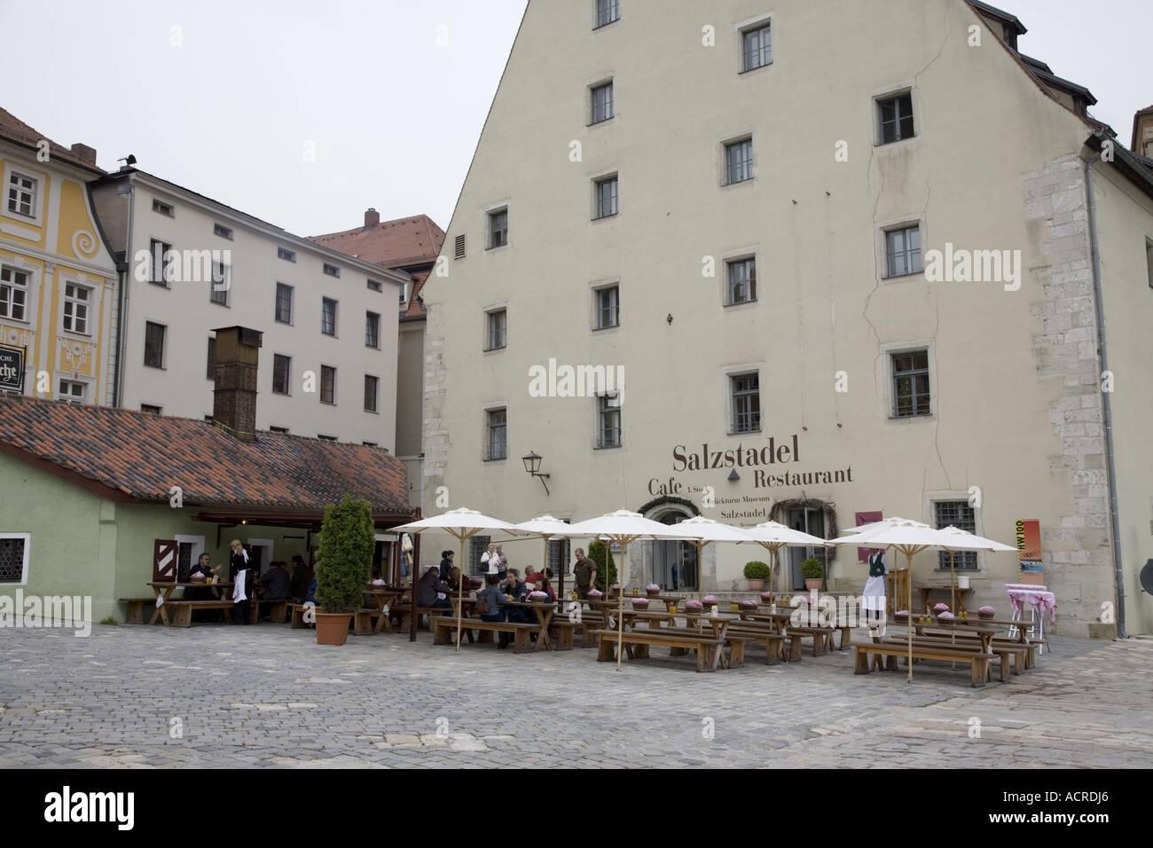 salzstadel cafe and restaurant regensburg germany stock photo royalty free image 7552229 alamy. Black Bedroom Furniture Sets. Home Design Ideas