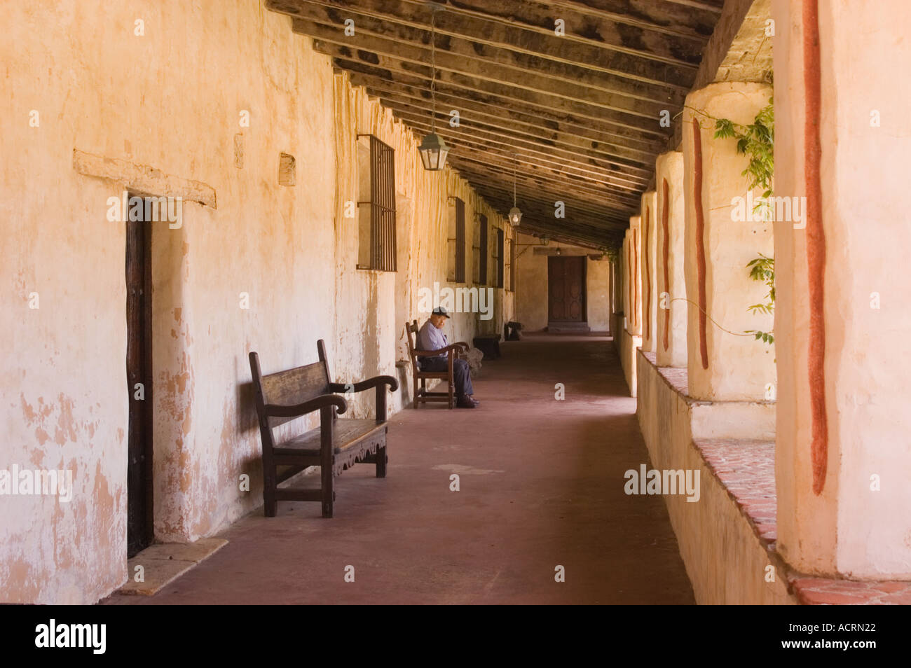 Wonderful Patio Hallway At Mission San Carlos Borromeo Del Rio Carmelo Carmel  California