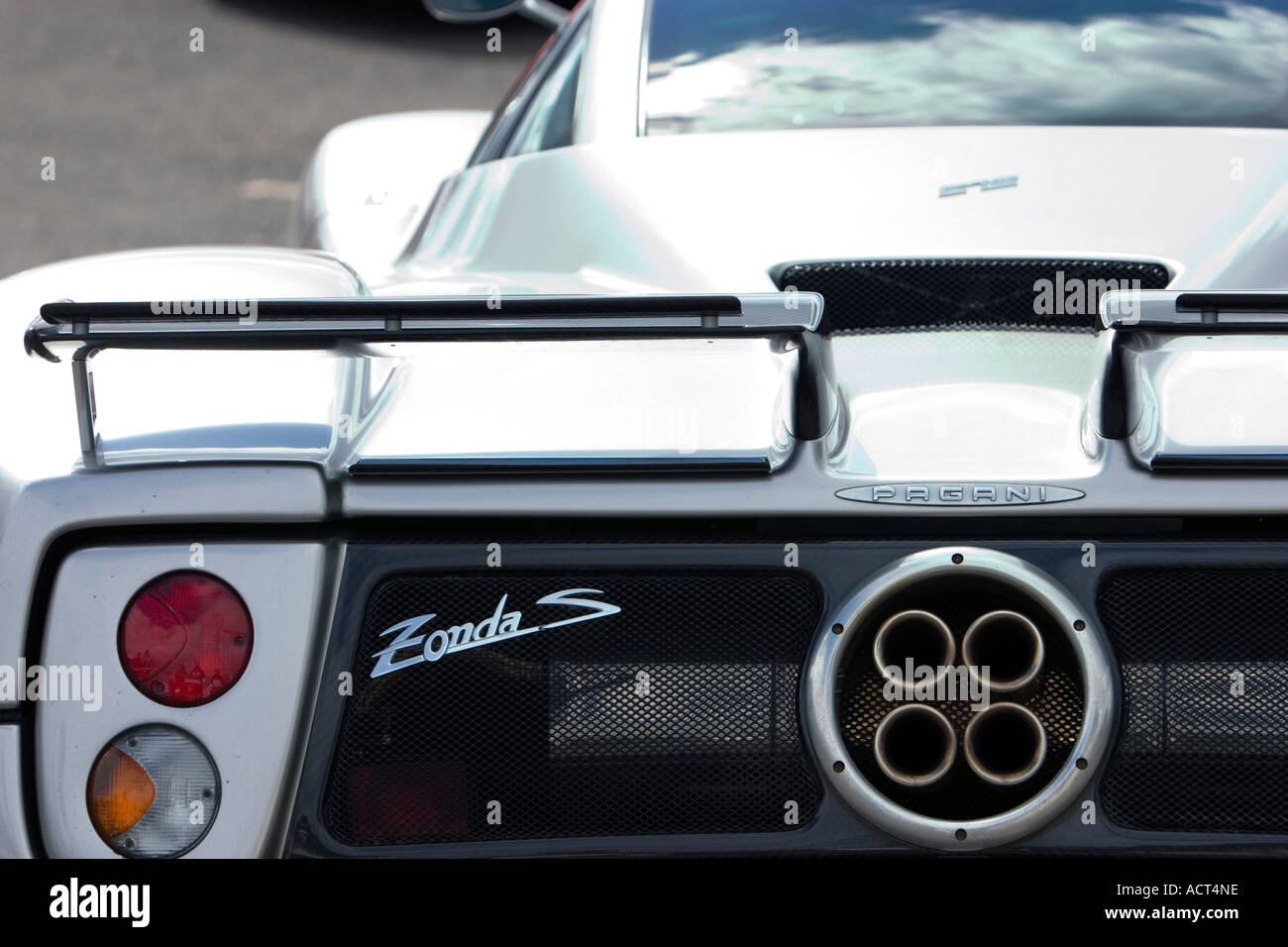 Pagani Zonda S Supercar Rear Light Cluster Spoiler And Four