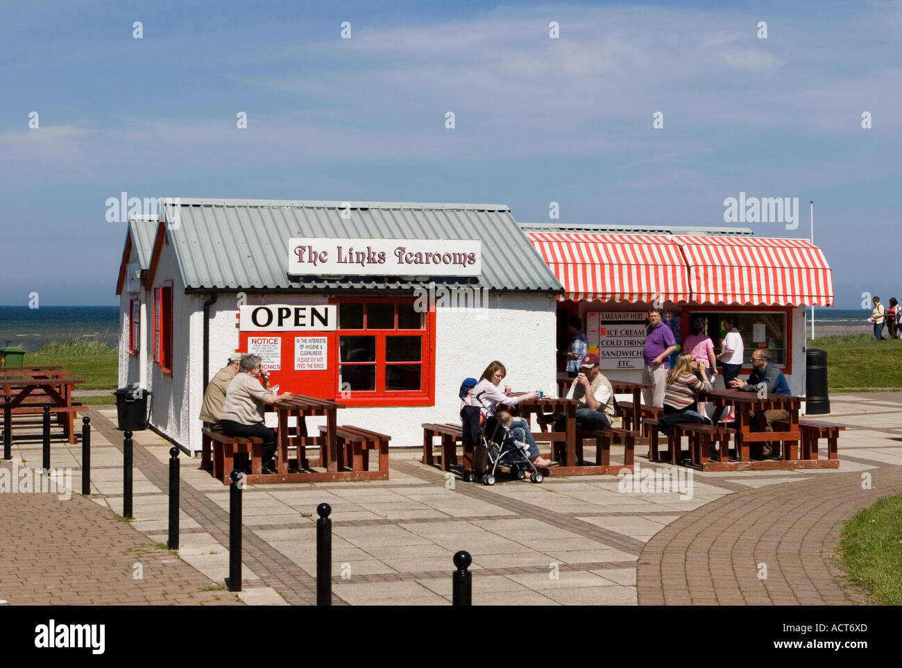 A Seaside Beach Front Cafe The Links Tearooms Nairn