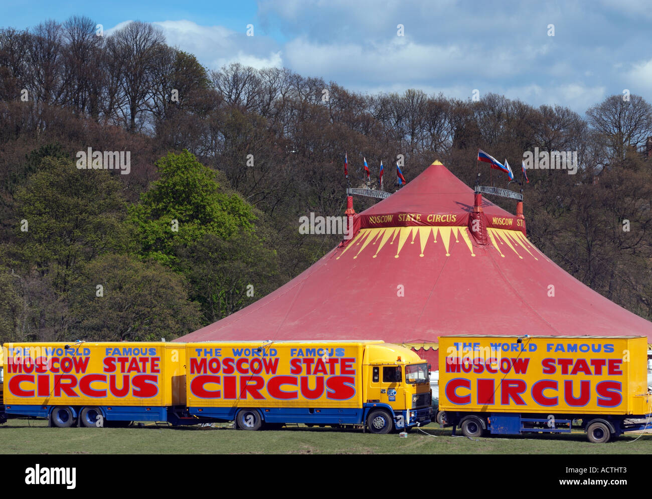 Moscow State Circus  in Endcliffe Park in Sheffield  Great Britain.   & Moscow State Circus