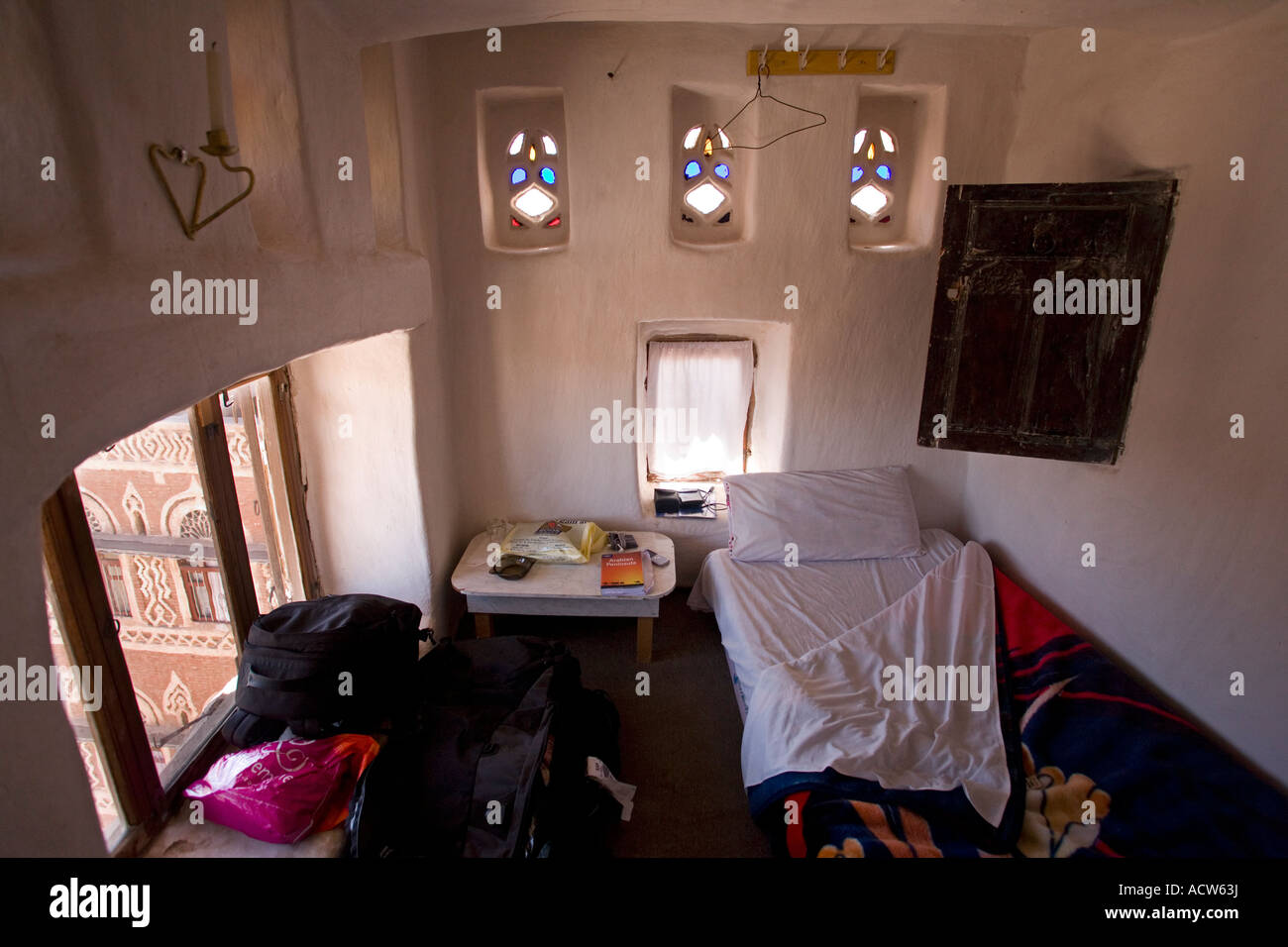 A Room In Traditional Yemeni Tower Converted Into Simple Hotel Sanaa Yemen