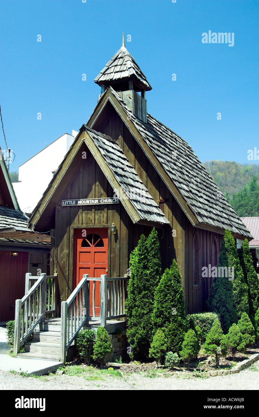 Little Mountain Church Wedding Chapel In Downtown Gatlinburg Tennessee USA