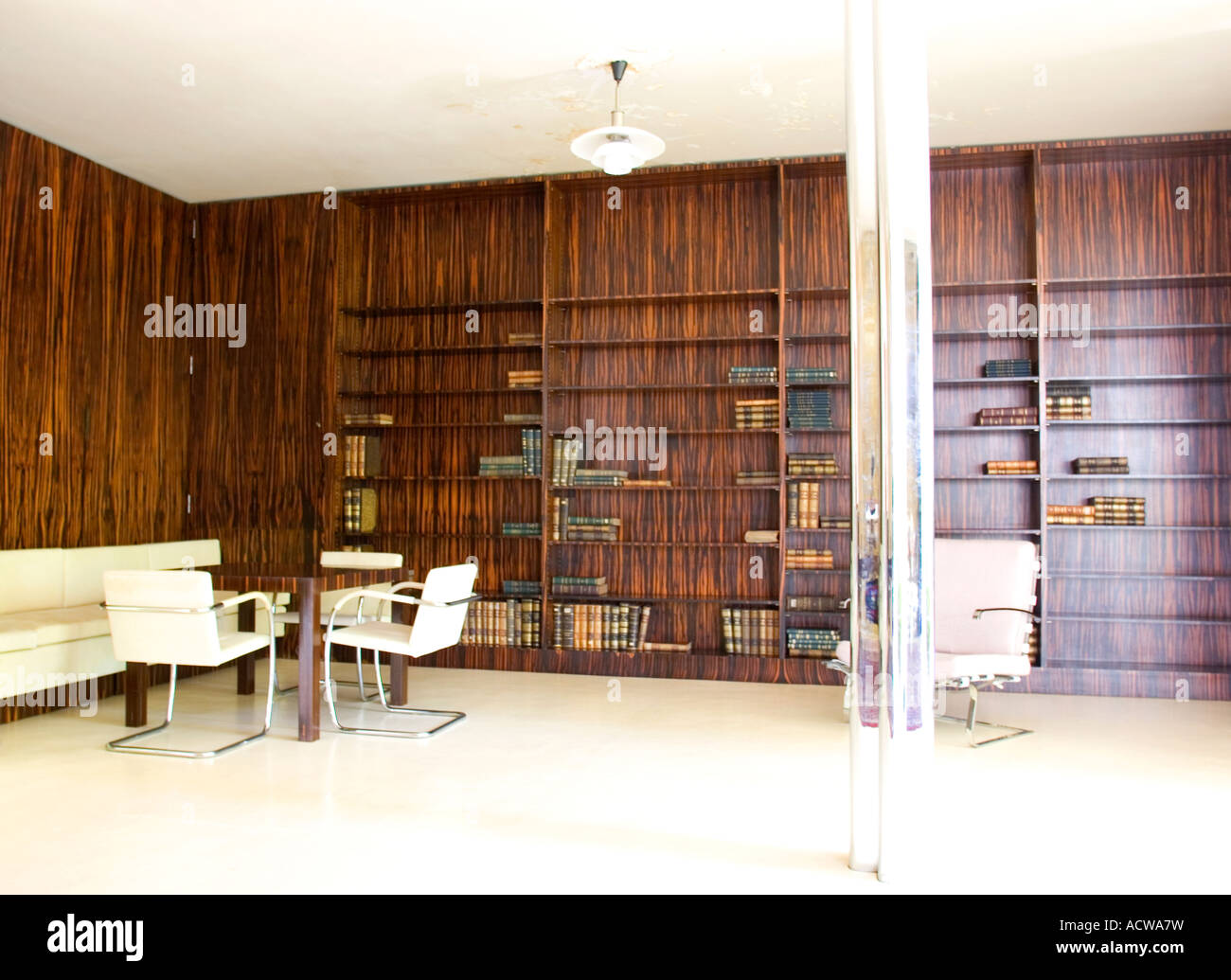 tugendhat house brno czech republic mies van der rohe architect stock photo 13234236 alamy. Black Bedroom Furniture Sets. Home Design Ideas