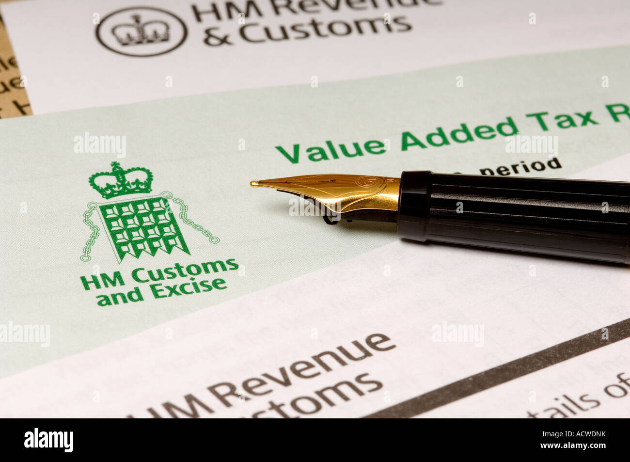 Value Added Tax Return Letters And Fountain Pen