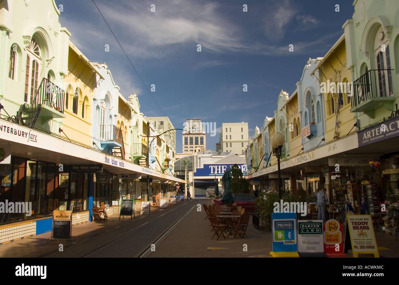 Christchurch News Photo: Shopping Street Of New Regent Street Christchurch New