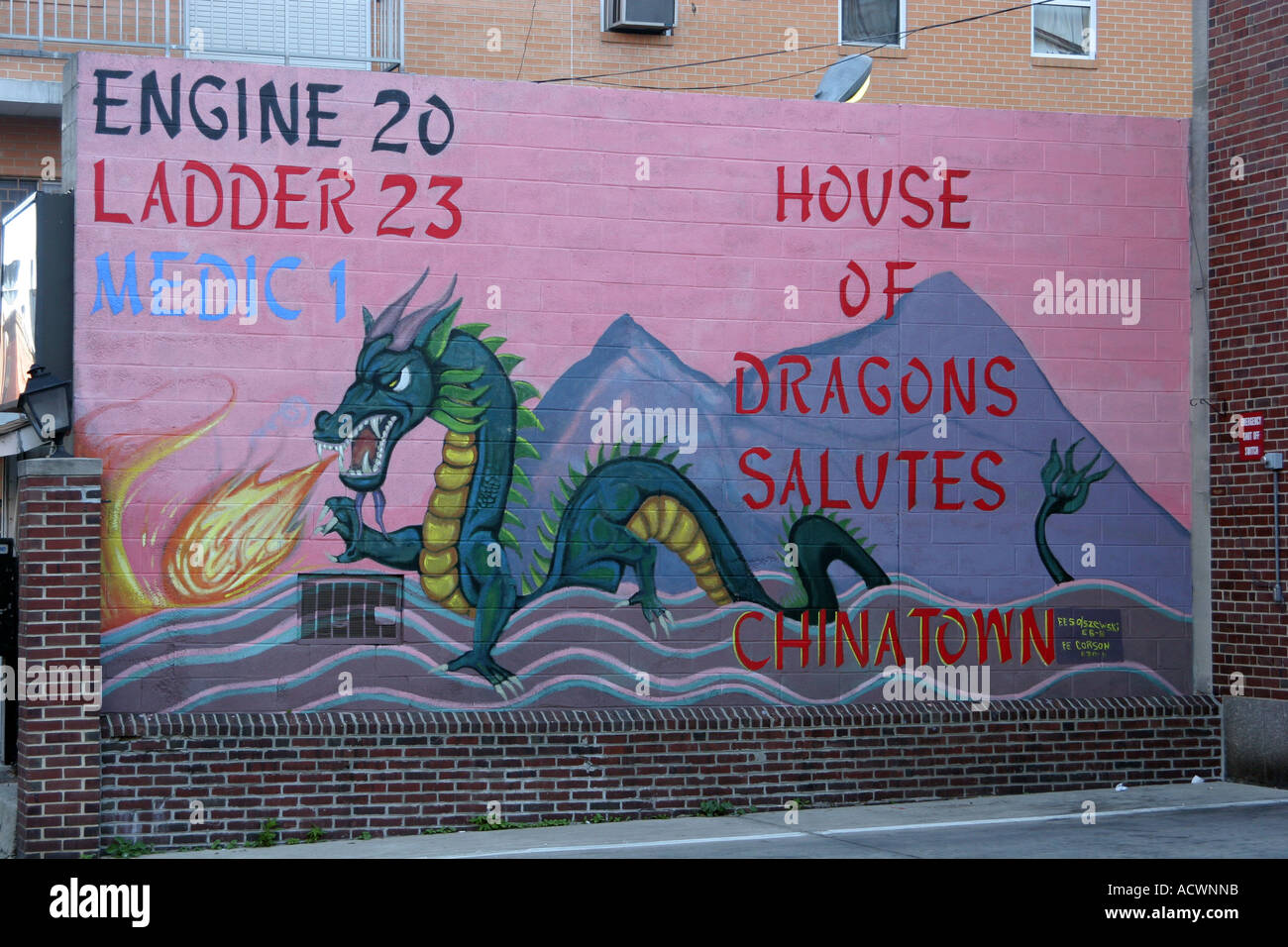 Mural At Fire Station In Chinatown, Philadelphia, Pennsylvania, USA Part 72