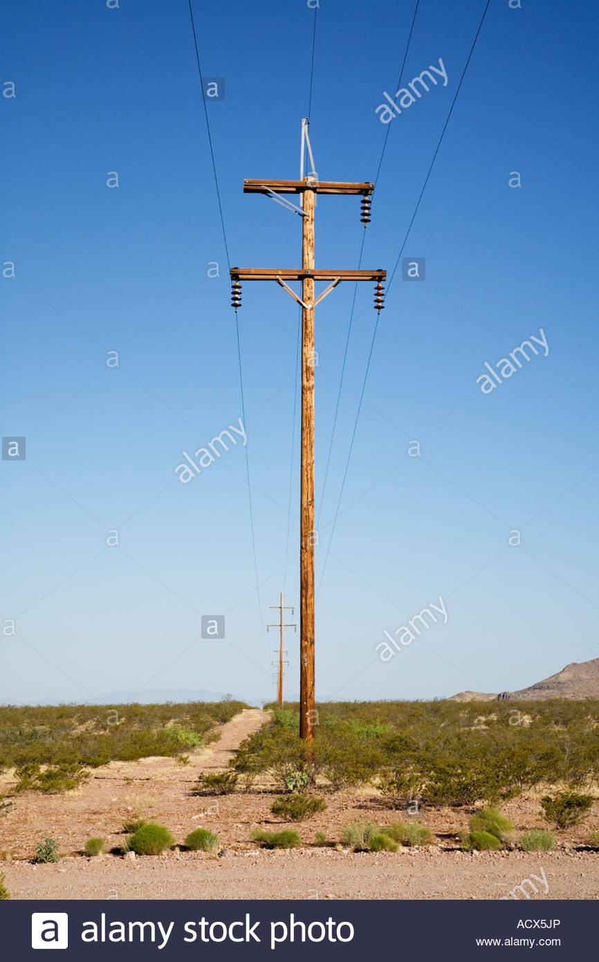 Electric Poles Power Lines : Wooden wood poles power lines electrical transmission