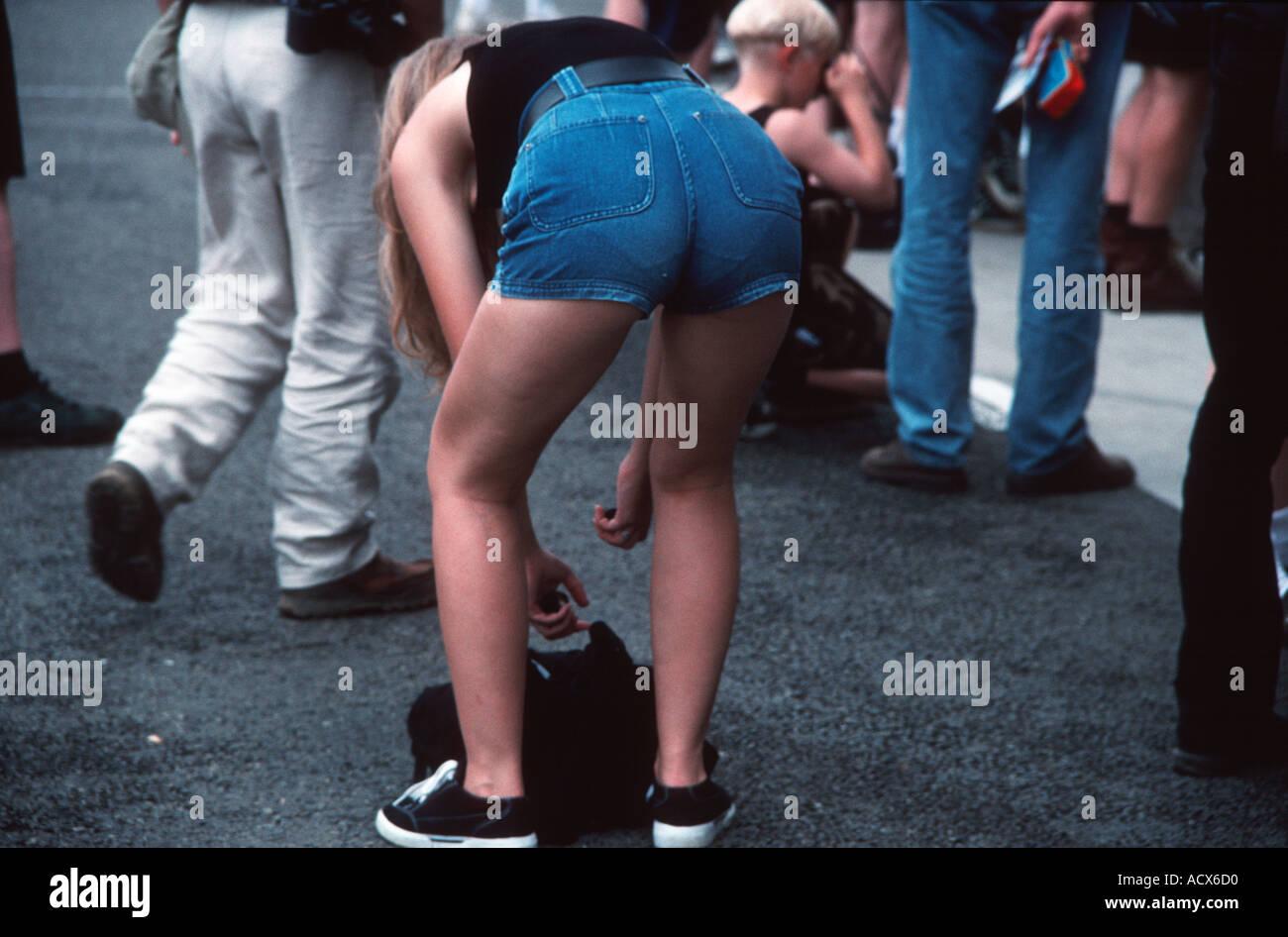girl bending over