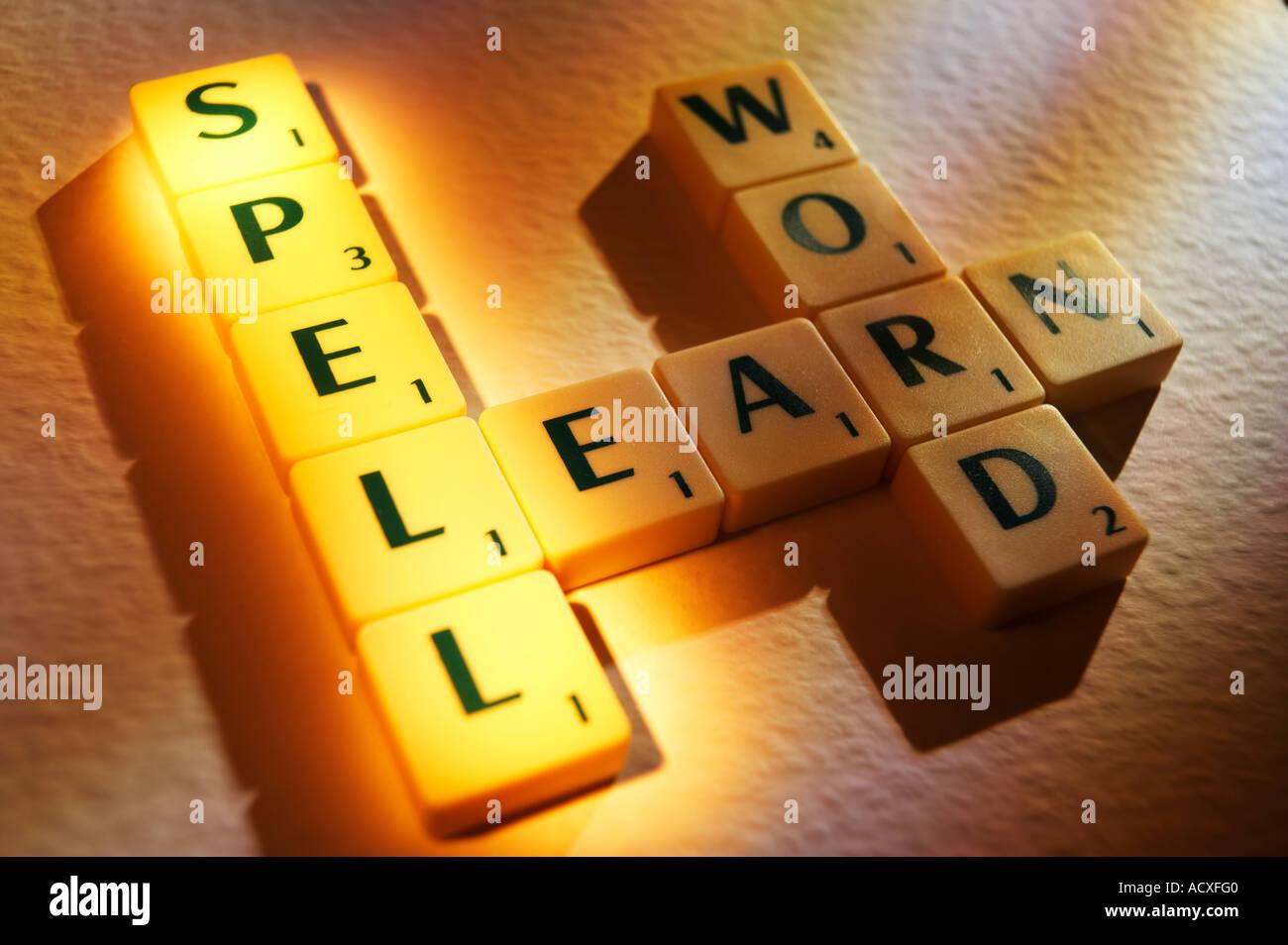 Scrabble board letters