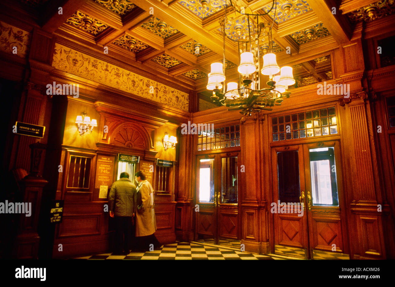 Western Foyer Box Office : Box office of the foyer her majesty s theatre london