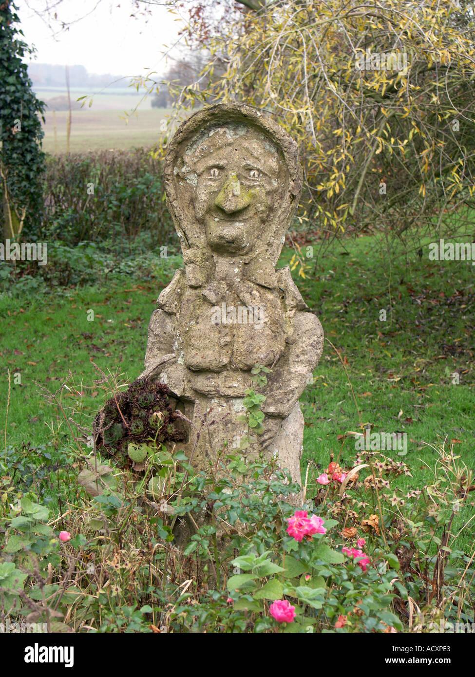 An Ornamental Humourous Concrete Garden Statue Or Figure