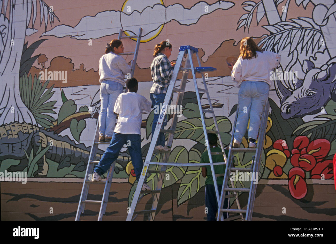 Mural on wall choice image home wall decoration ideas youth paint mural on wall between detroit and grosse pointe stock youth paint mural on wall amipublicfo Gallery