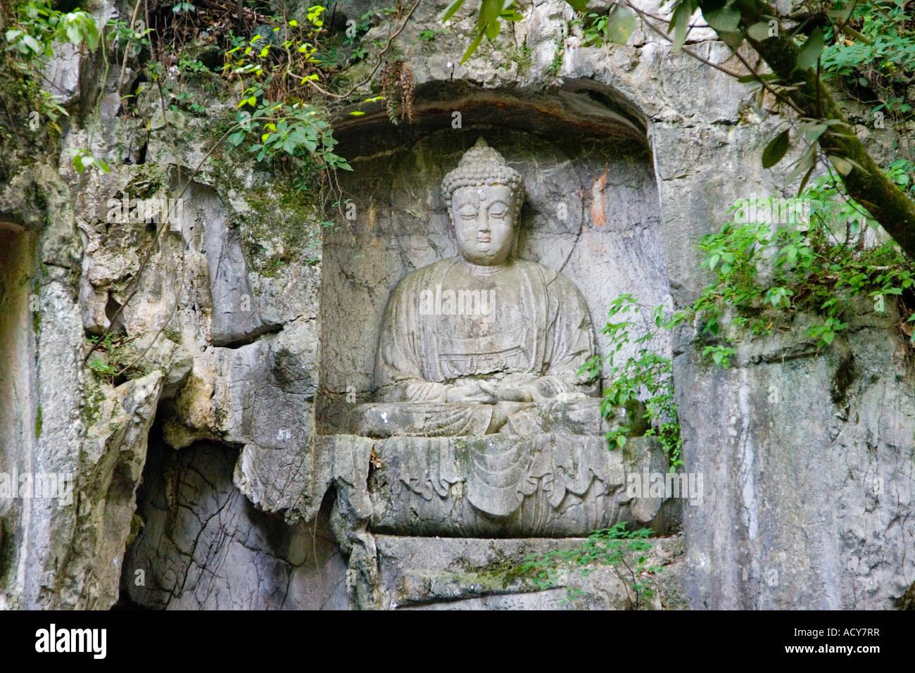 Buddhist rock carvings feilai peak lingyin temple hangzhou