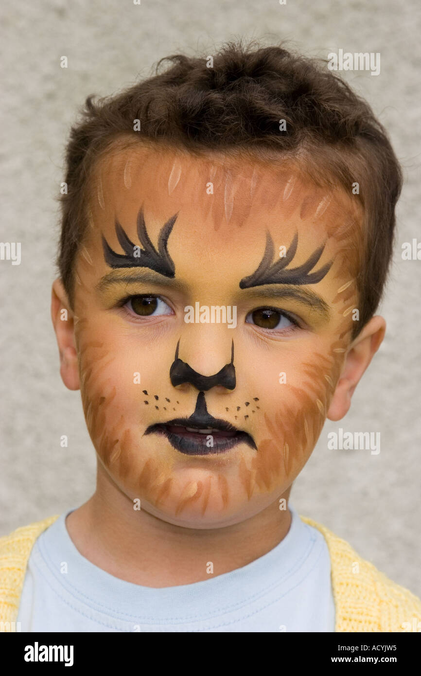 How To Paint A Lion Face On A Child