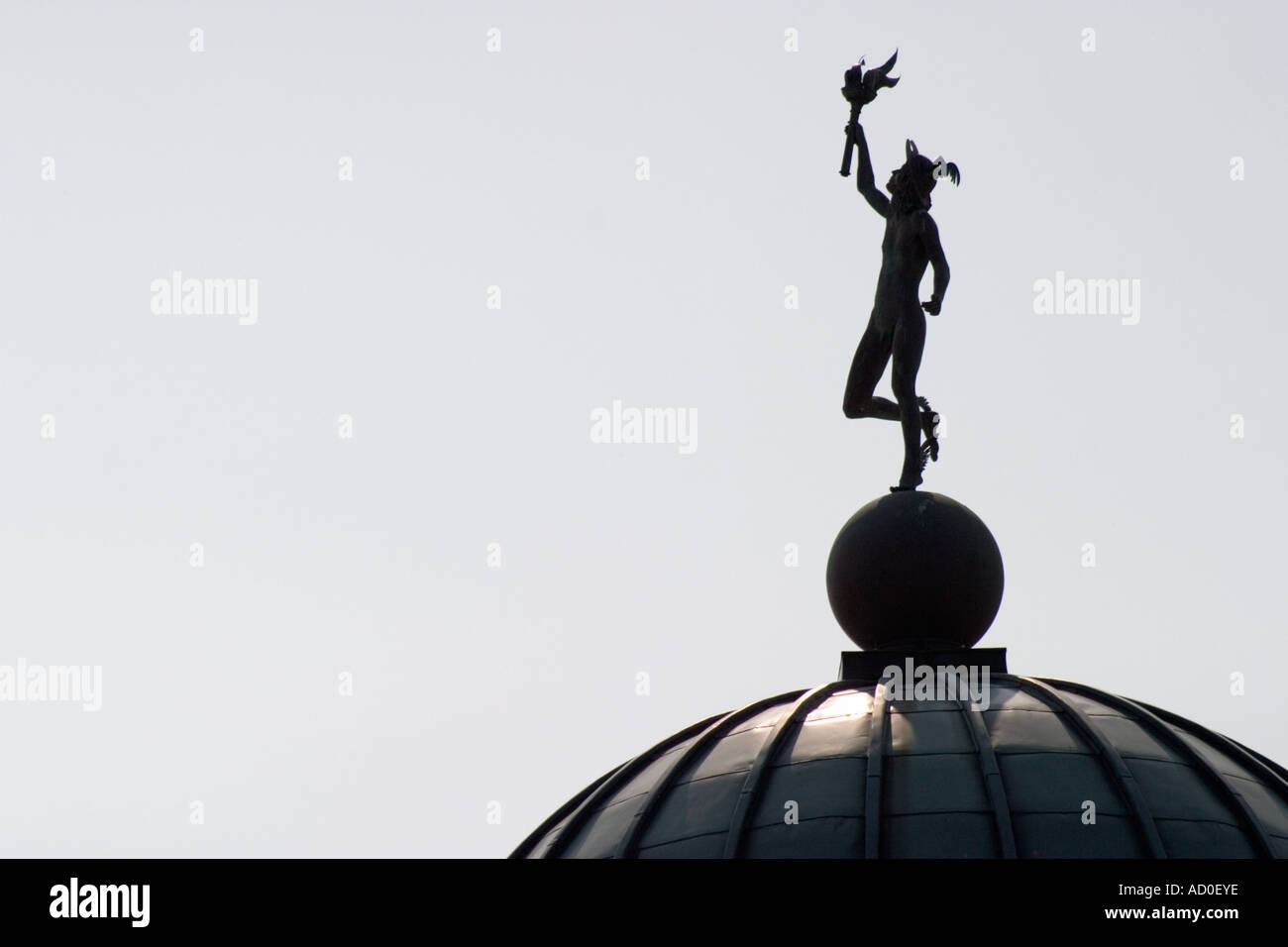 Statue of mercury on dome of lyceum theatre sheffield stock photo statue of mercury on dome of lyceum theatre sheffield biocorpaavc Gallery