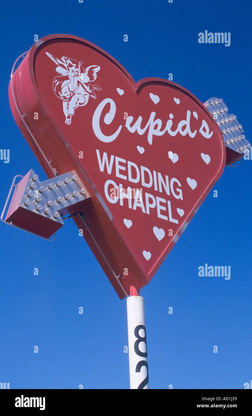 Cupids Wedding Chapel Sign Las Vegas USA