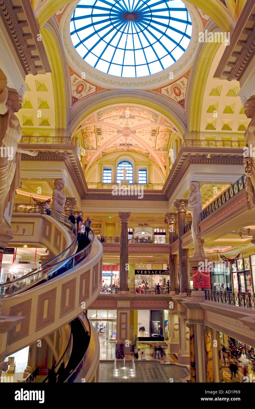 inside the forum shops area at caesars palace mall las vegas nevada stock photo royalty free. Black Bedroom Furniture Sets. Home Design Ideas