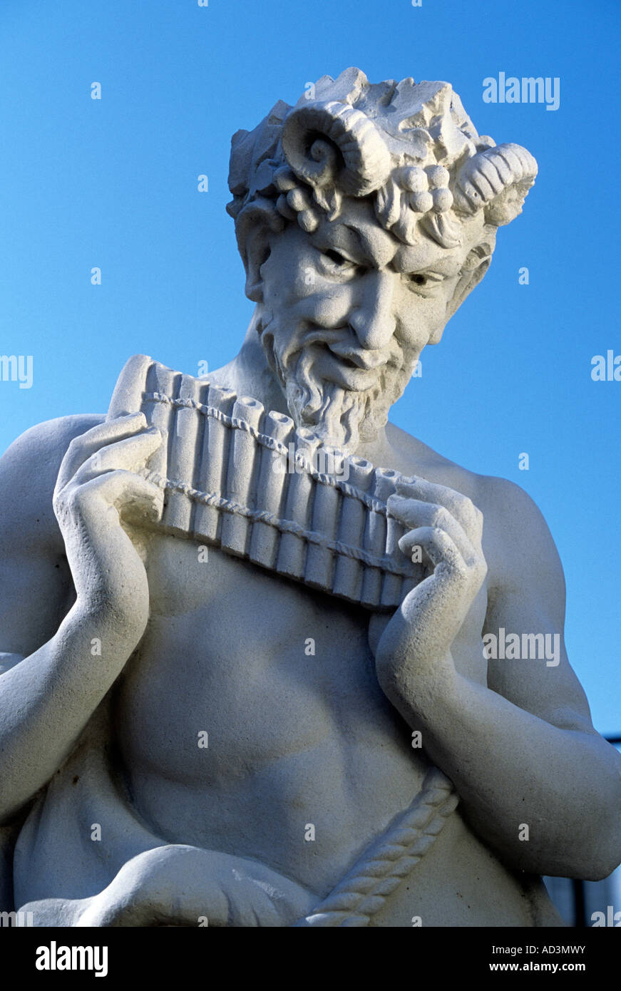 Greek pan stock photos greek pan stock images alamy statue of pan the greek god of shepherds flocks and woodlands against a blue buycottarizona