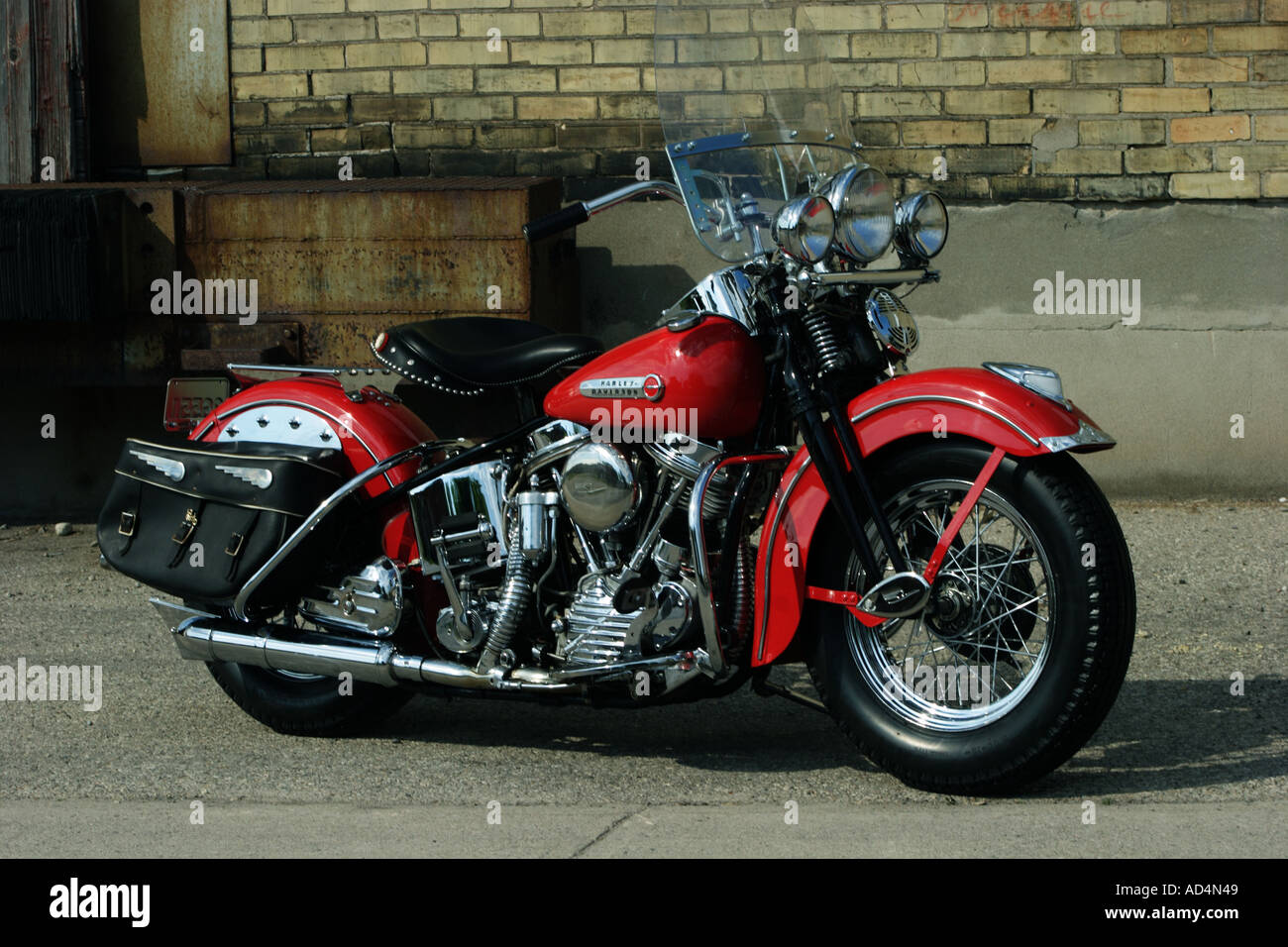 1948 Harley Davidson FL Stock Photo, Royalty Free Image