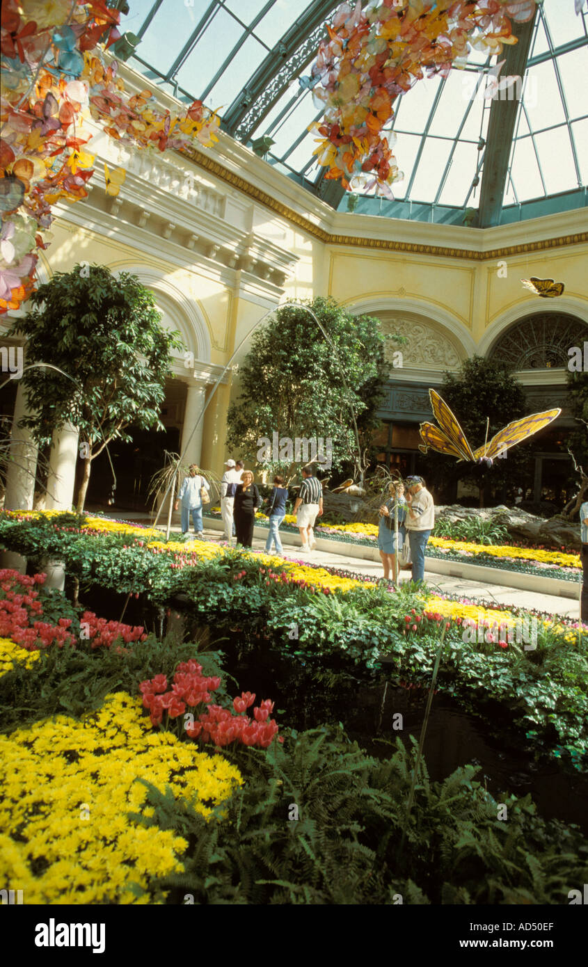 las vegas nevada usa bellagio hotel indoor garden stock photo