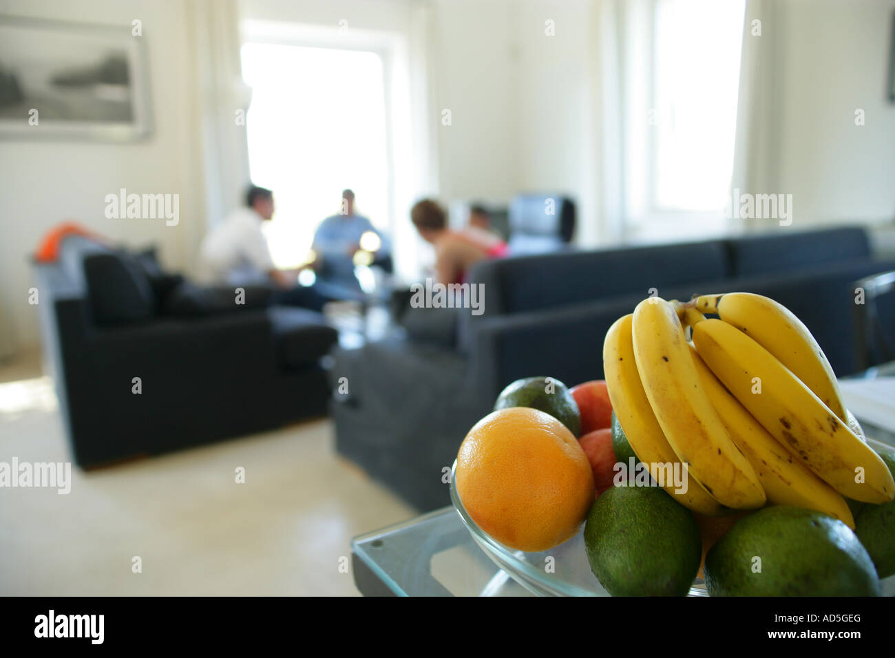 Fruit Plate Set On A Dining Table