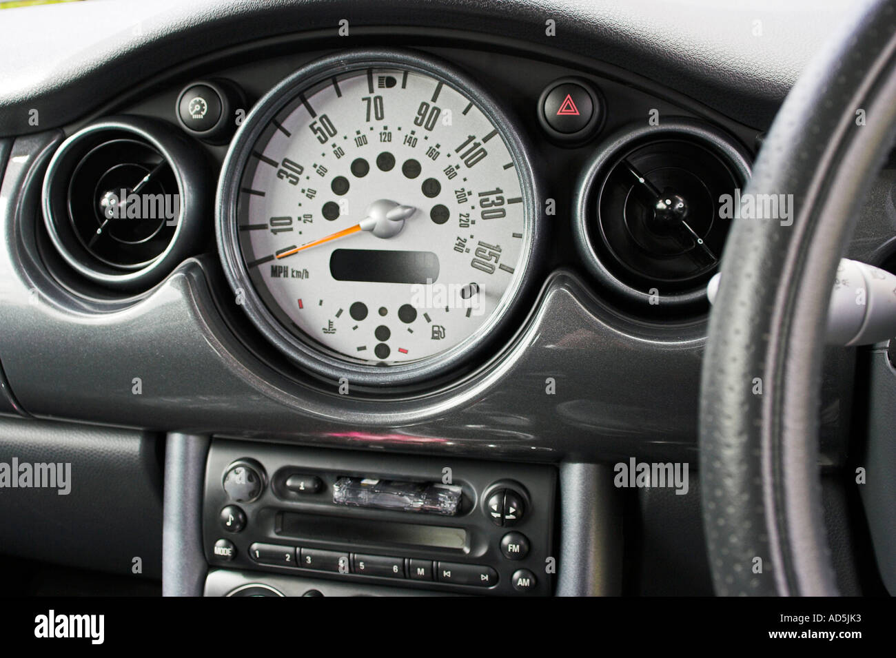 Mini Cooper Dashboard >> Dashboard of a Mini One car Stock Photo, Royalty Free Image: 7606962 - Alamy