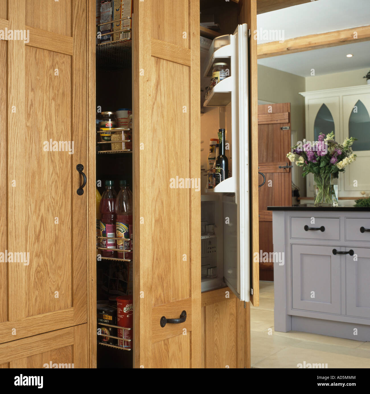 Larder Doors & Kitchen Cabinet Pantry Corner Oak Tall