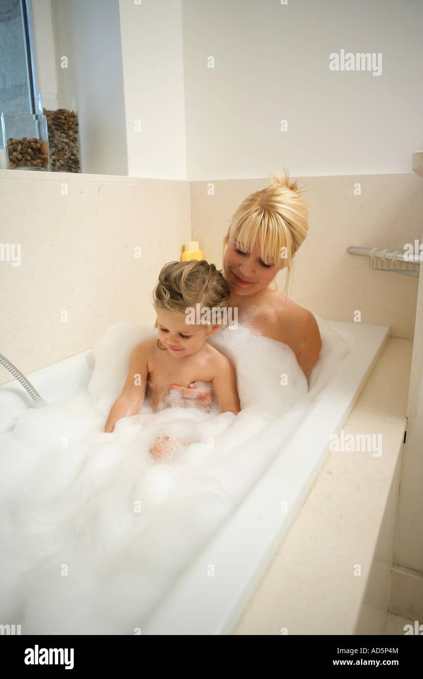 Bath lesbian taking