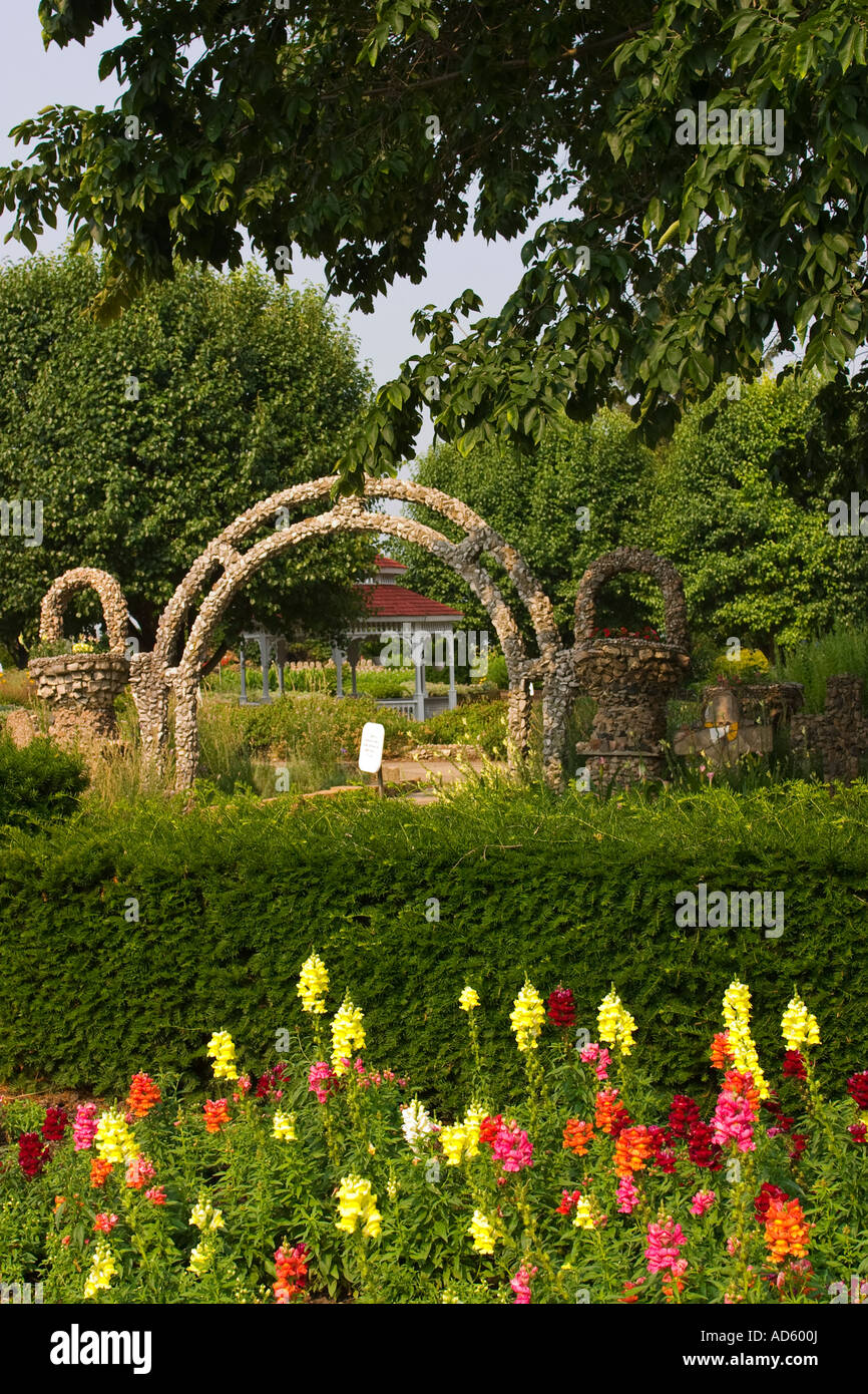 Good ILLINOIS Arcola Rock Structures And Flowers At Rockome Gardens Gazebo