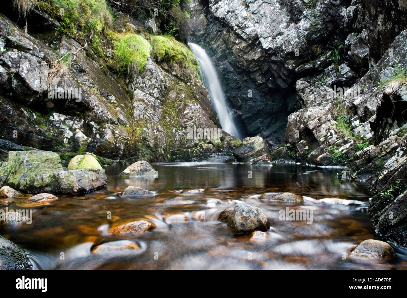 Scottish Waterfall And Pool Strathconon Highlands Scotland Stock Photo Royalty Free Image