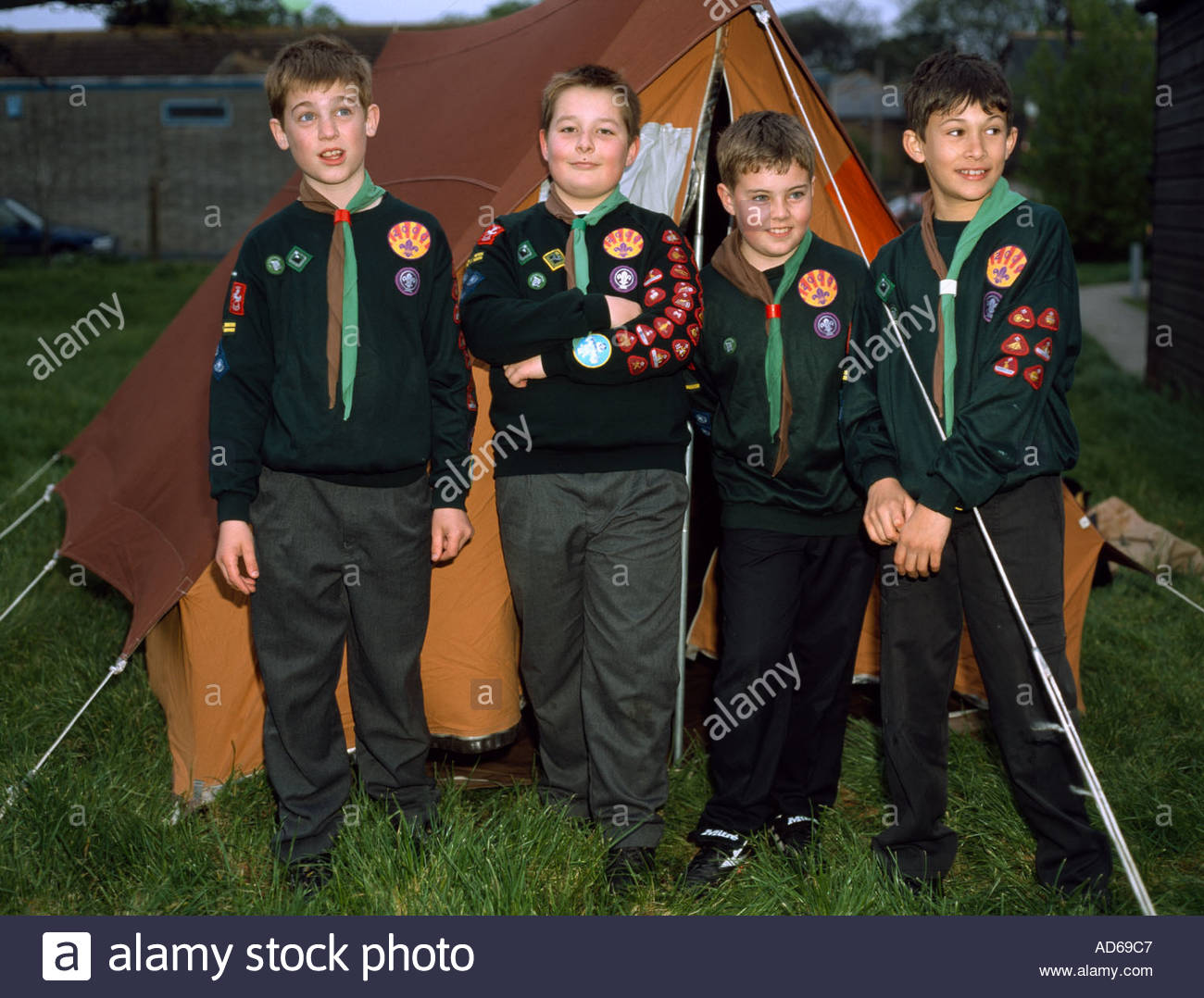 Cub Scouts outside their tent on c& Margate Kent UK  sc 1 st  Alamy & Cub Scouts outside their tent on camp Margate Kent UK Stock Photo ...