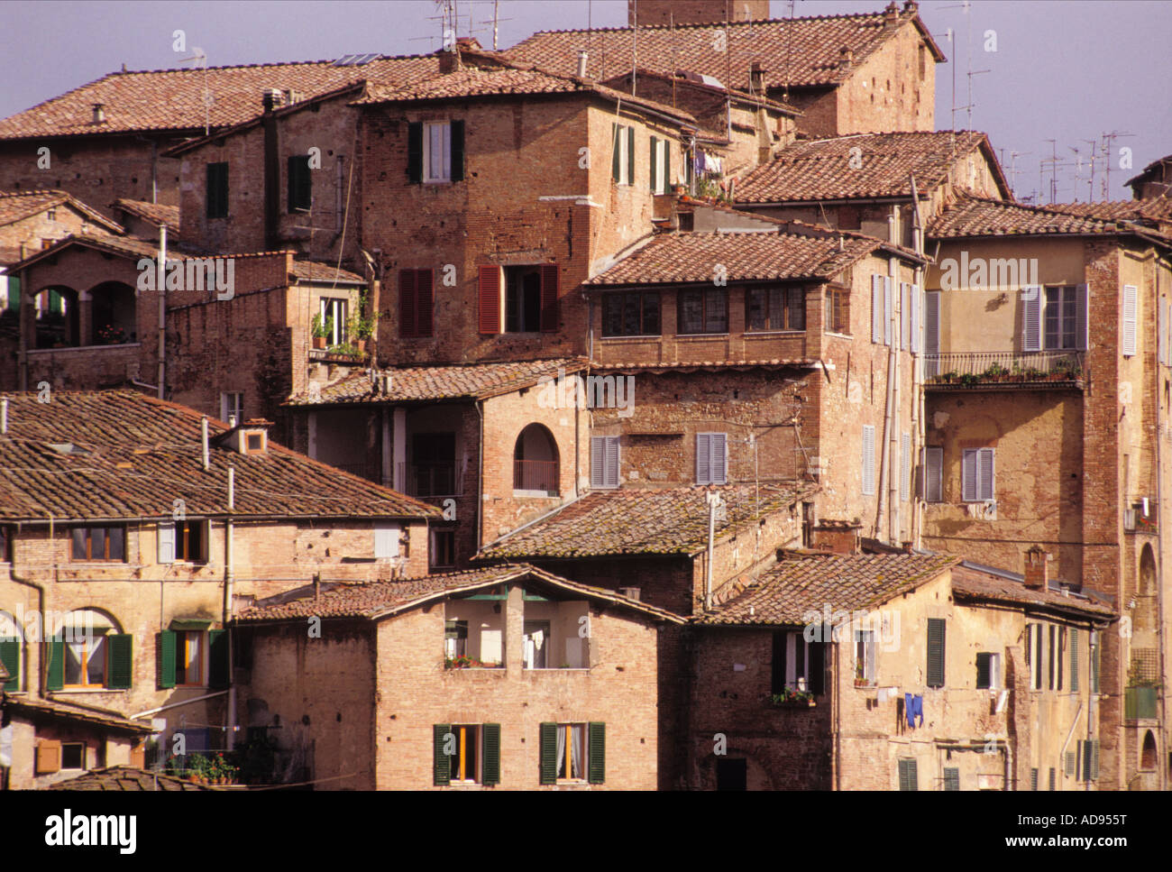 Tuscan houses sienna tuscany italy stock photo royalty for Tuscany houses