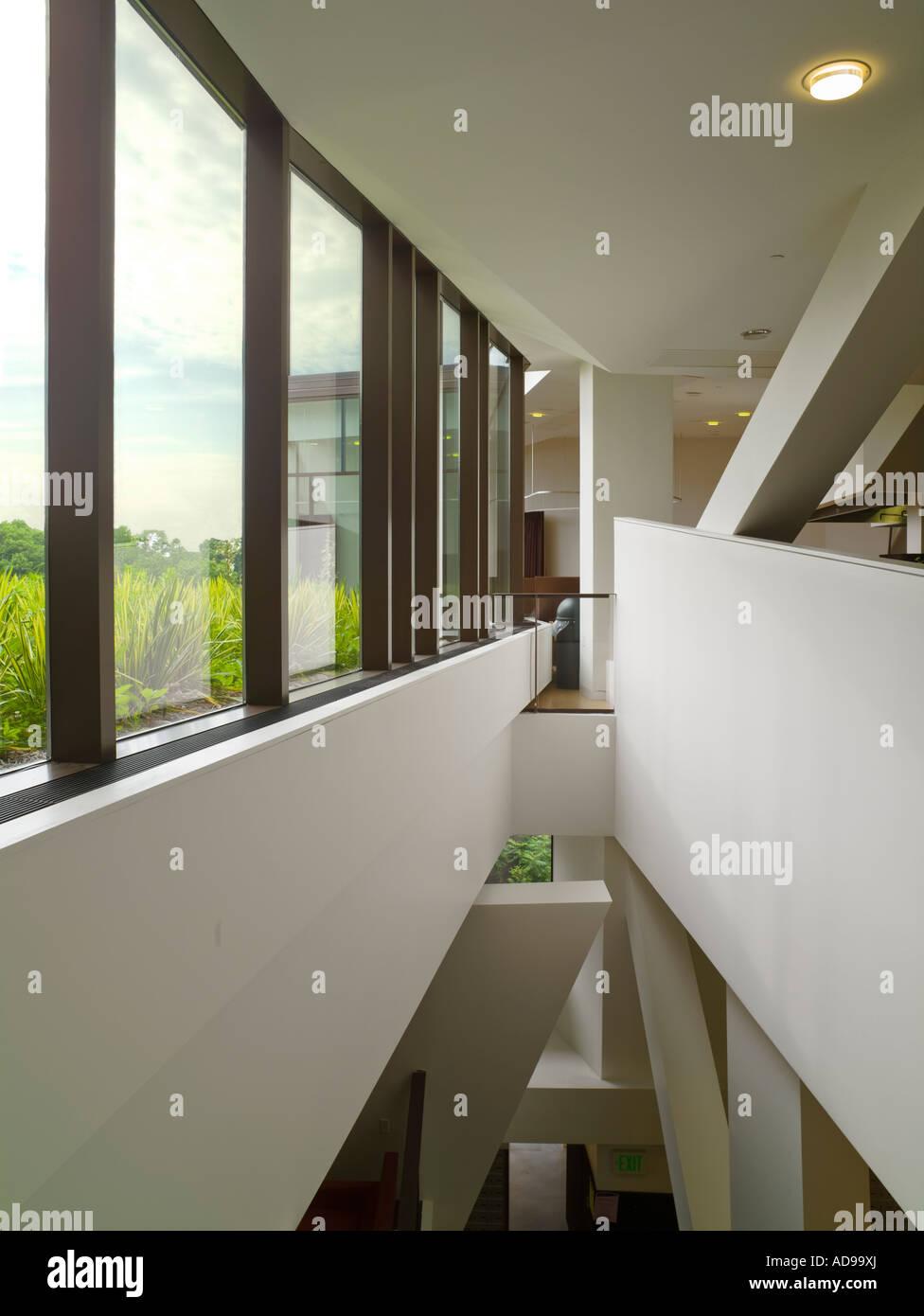 Upper Floor Lulu Chow Wang Campus Center Wellesley College Massachusetts USA