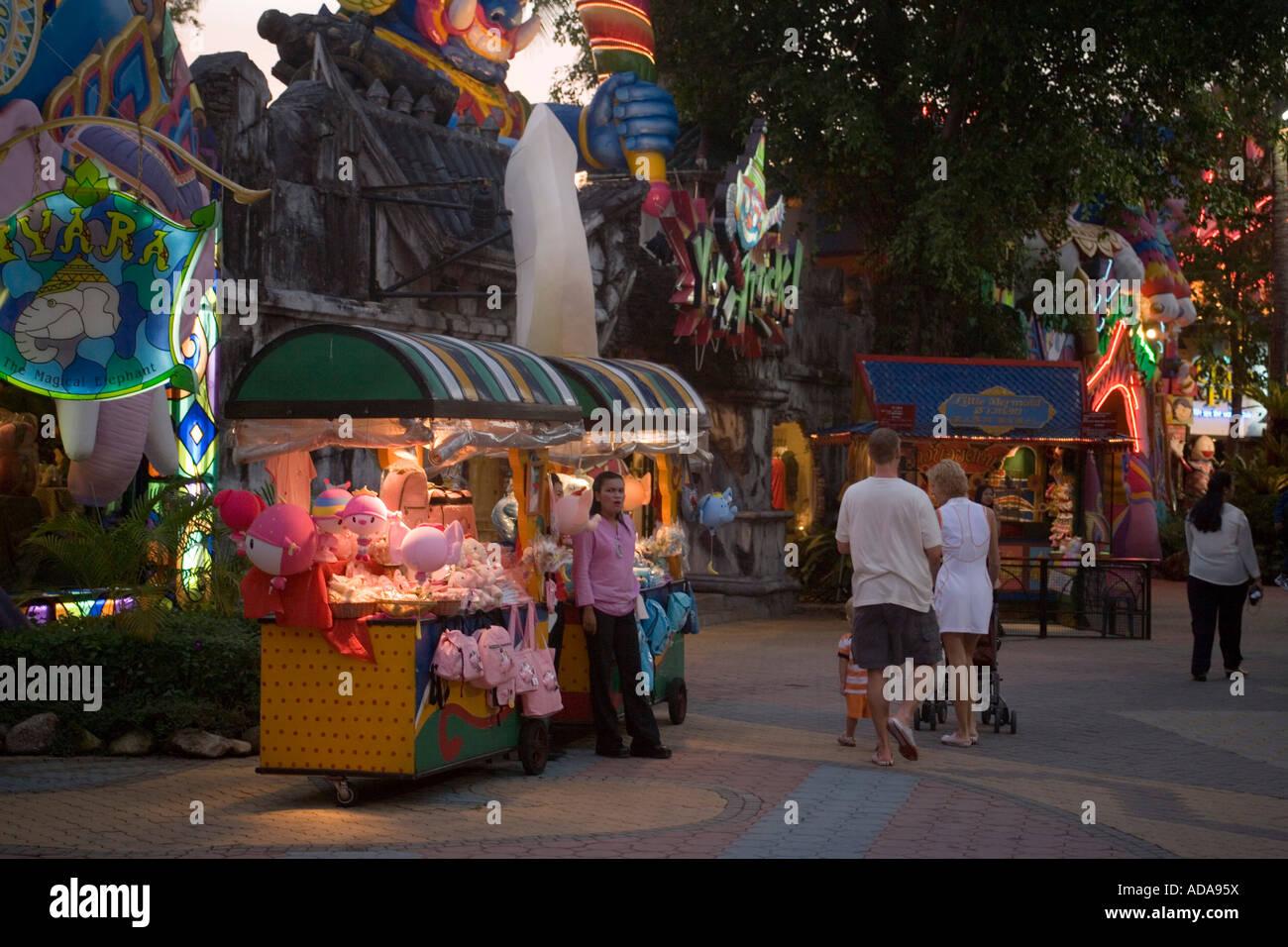 Souvenir stall Phuket Fantasea Nighttime Cultural Theme Park Kamala Stock Pho...